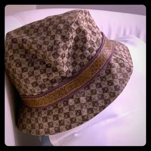 Liz Claiborne womens fedora hat - brown & purple
